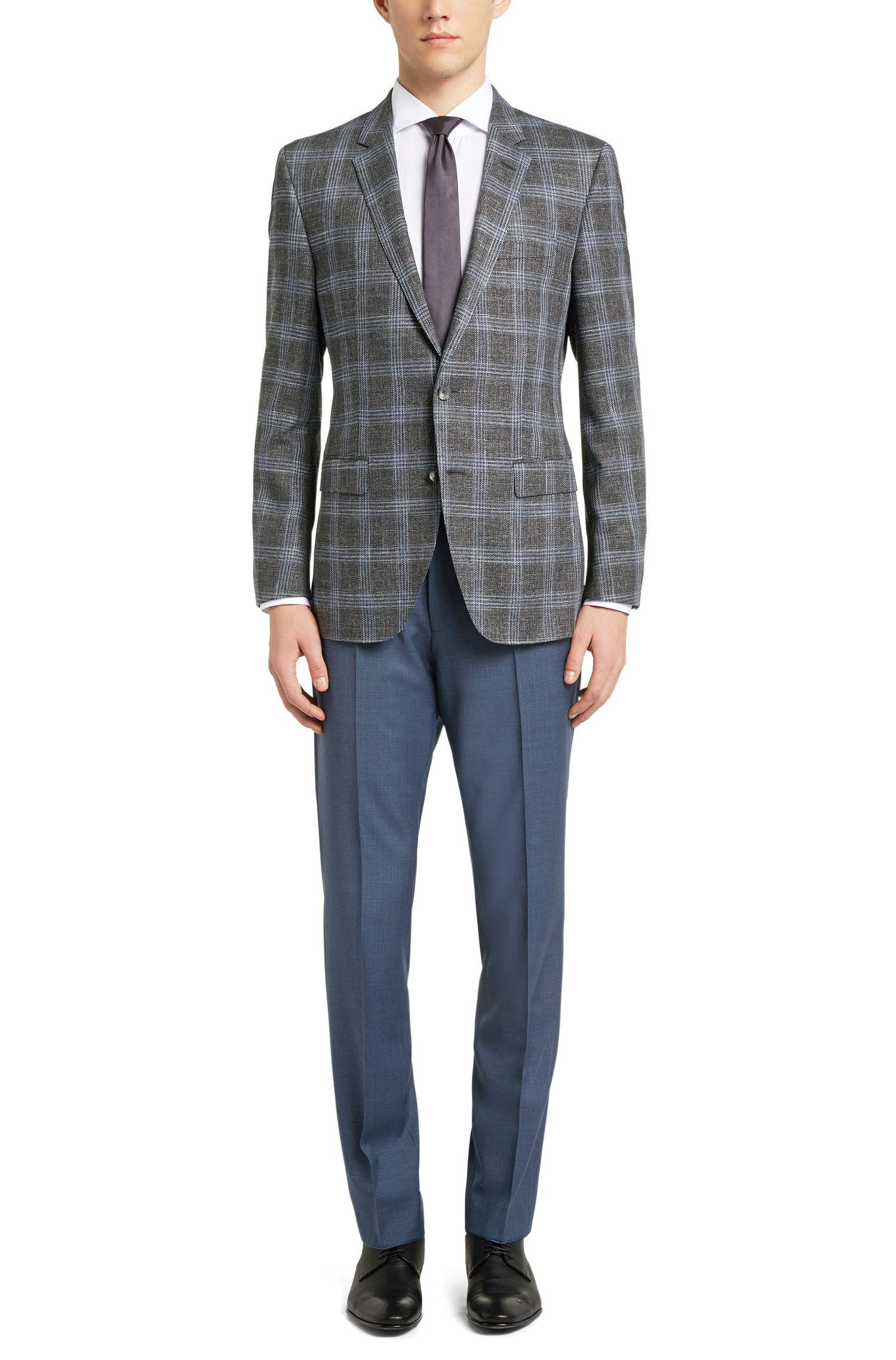 Stretch Virgin Wool Blend Sport Coat, Slim Fit | T-Heel