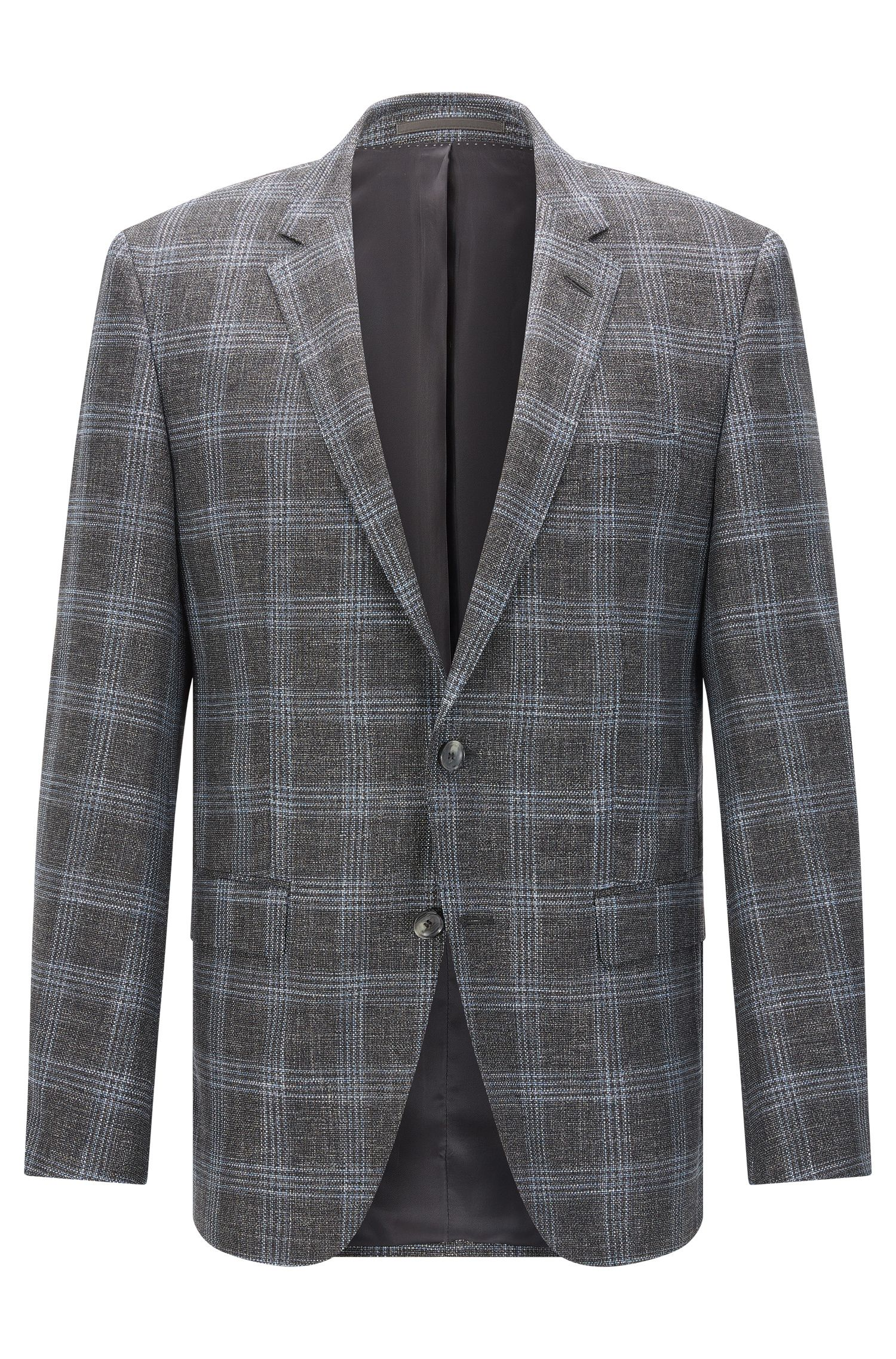 Stretch Virgin Wool Blend Sport Coat, Slim Fit | T-Heel