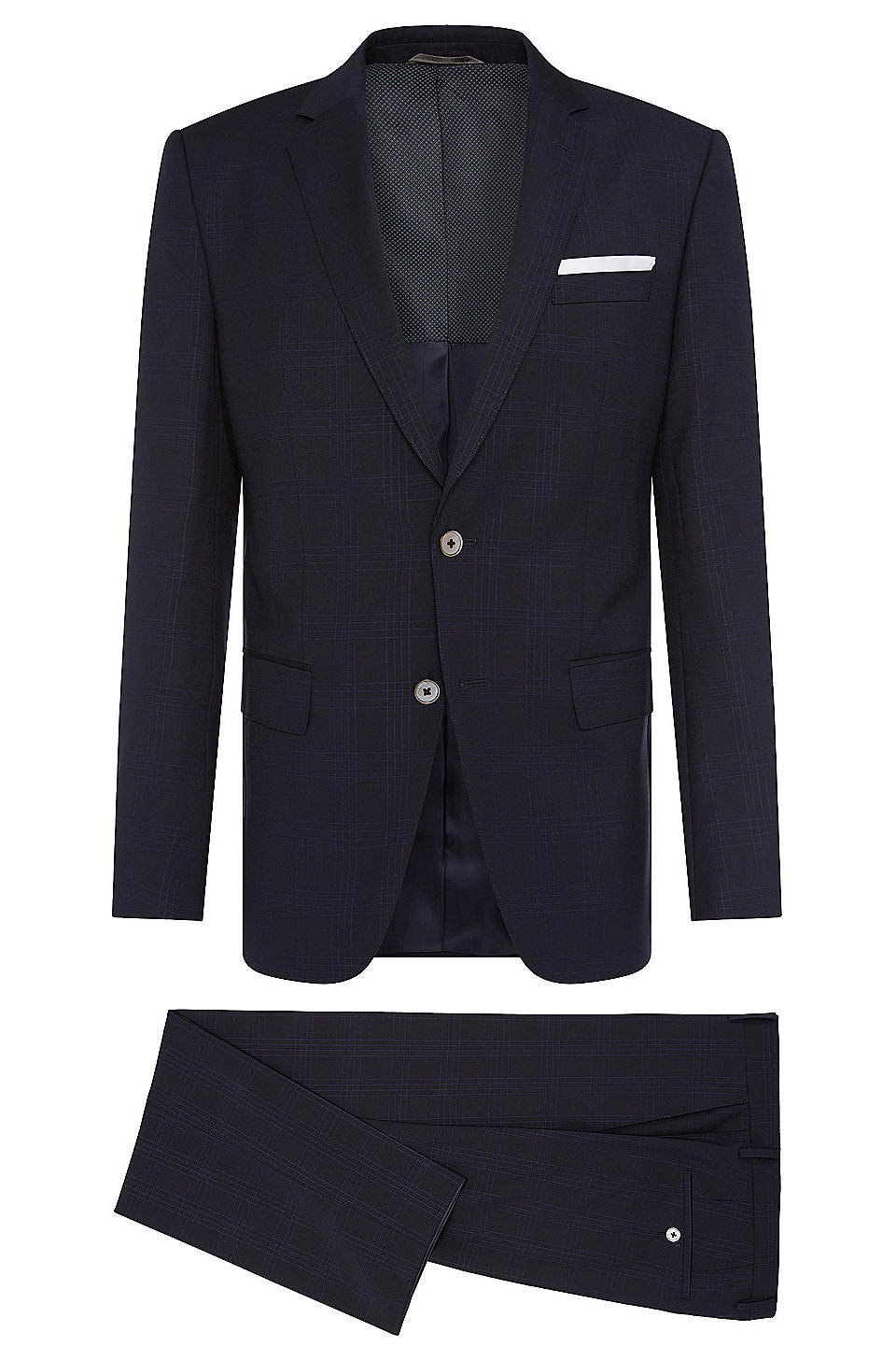 05e5fa1ca BOSS - Italian Super 110 Virgin Wool Suit, Slim Fit | Hutson/Gander