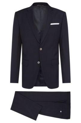 Italian Super 110 Virgin Wool Suit, Slim Fit | Hutson/Gander, Dark Blue