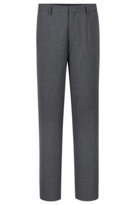 'Genesis' | Slim Fit, Stretch Wool Blend Check Dress Pants, Grey