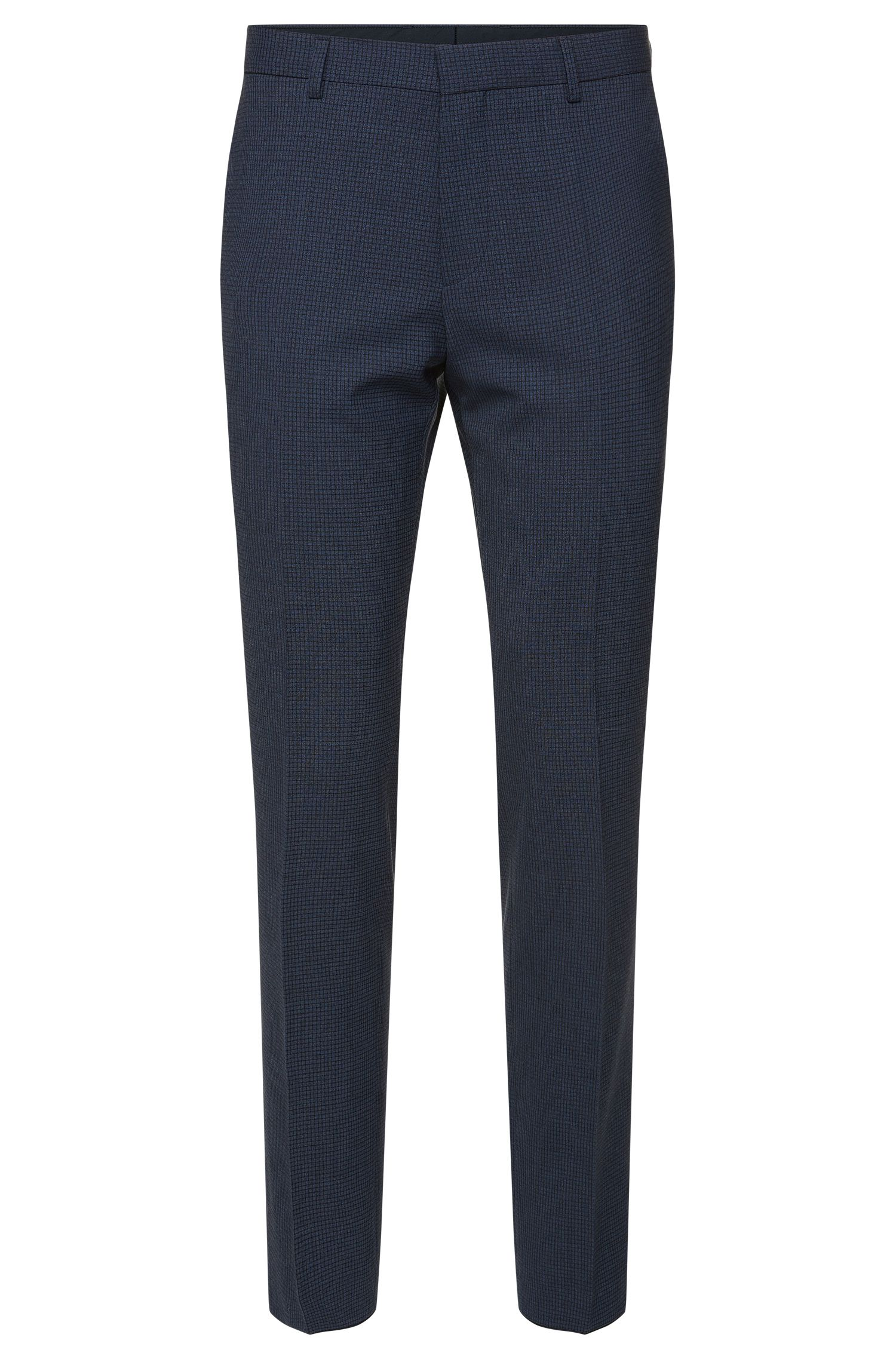 'Genesis' | Slim Fit, Stretch Wool Blend Check Dress Pants