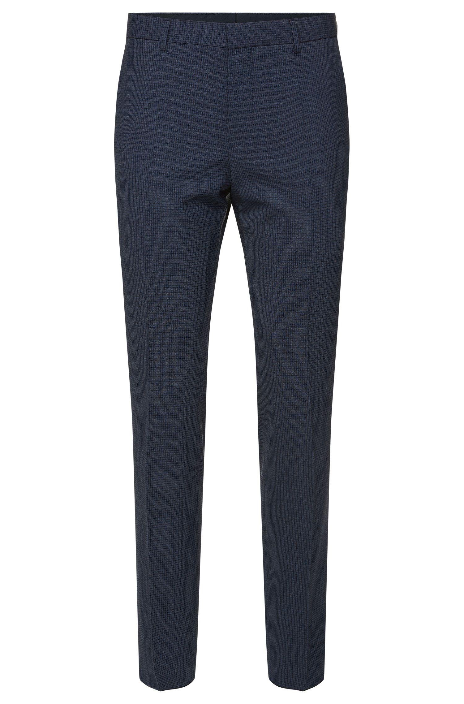 'Genesis' | Slim Fit, Stretch Wool Blend Check Dress Pants