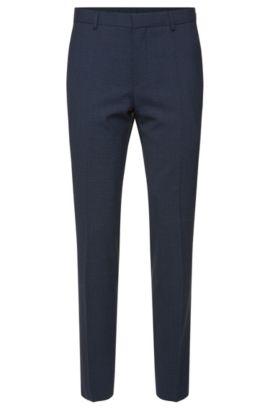 'Genesis' | Slim Fit, Stretch Wool Blend Check Dress Pants, Light Blue