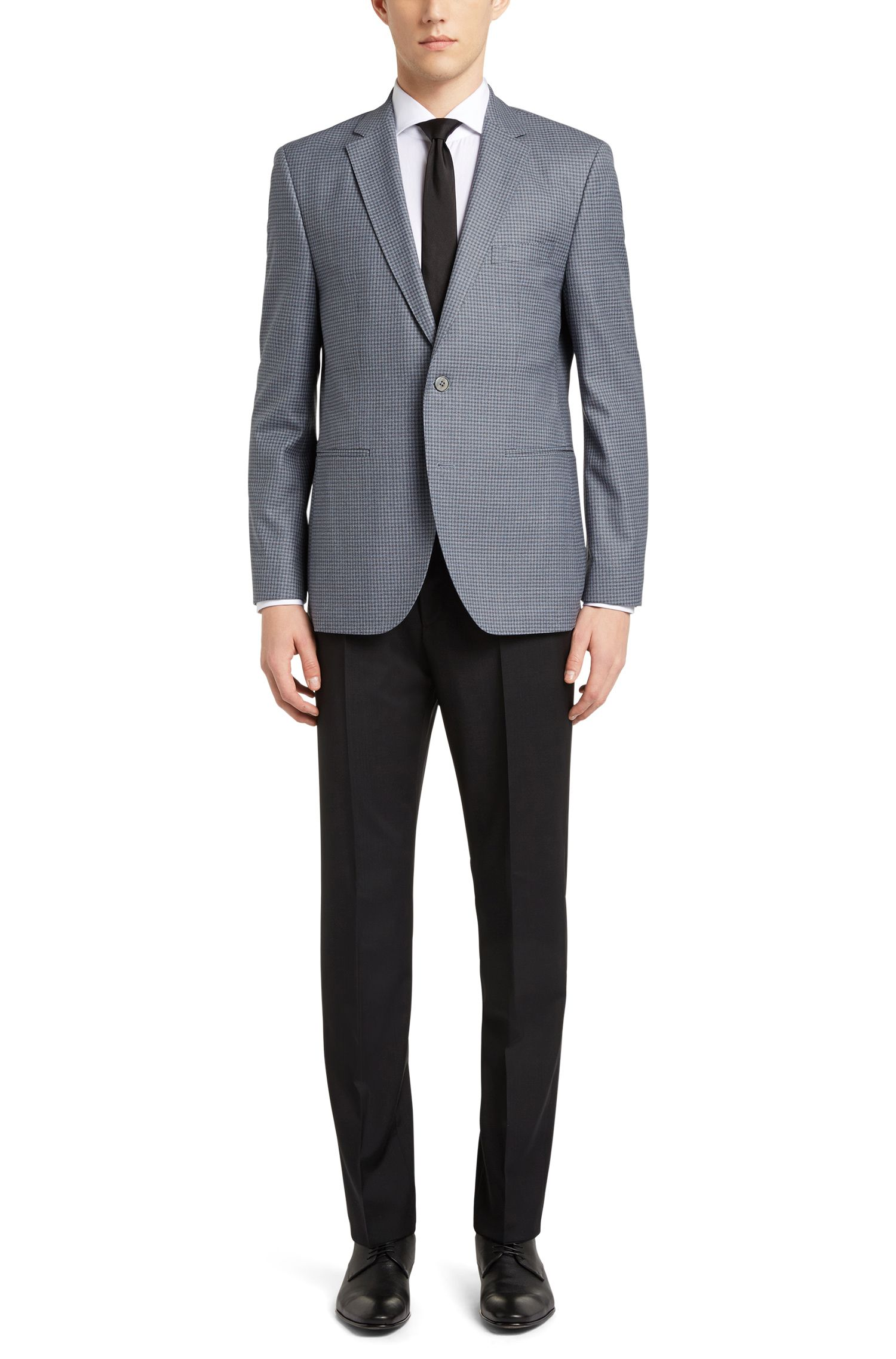 'Jedson' | Regular Fit, Italian Virgin Wool Sport Coat, Turquoise