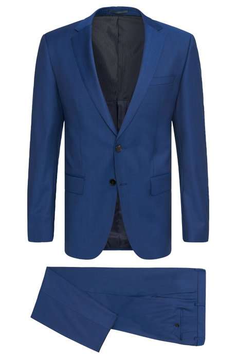 3f9c8731a BOSS - Super 120 Italian Virgin Wool Suit, Slim Fit | Huge/Genius