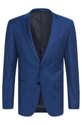 3d23e6444 BOSS - Super 120 Italian Virgin Wool Suit, Slim Fit   Huge/Genius