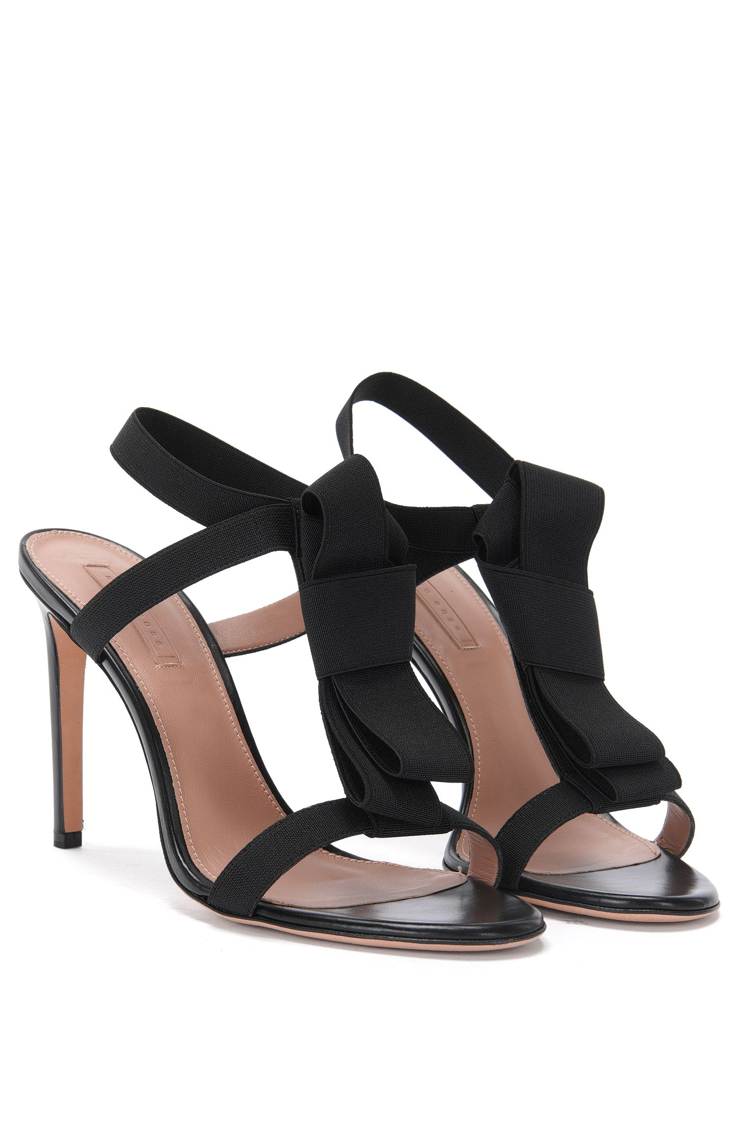 'Bow Tie Sandal' | Stretch Bow Tie Leather Sandal