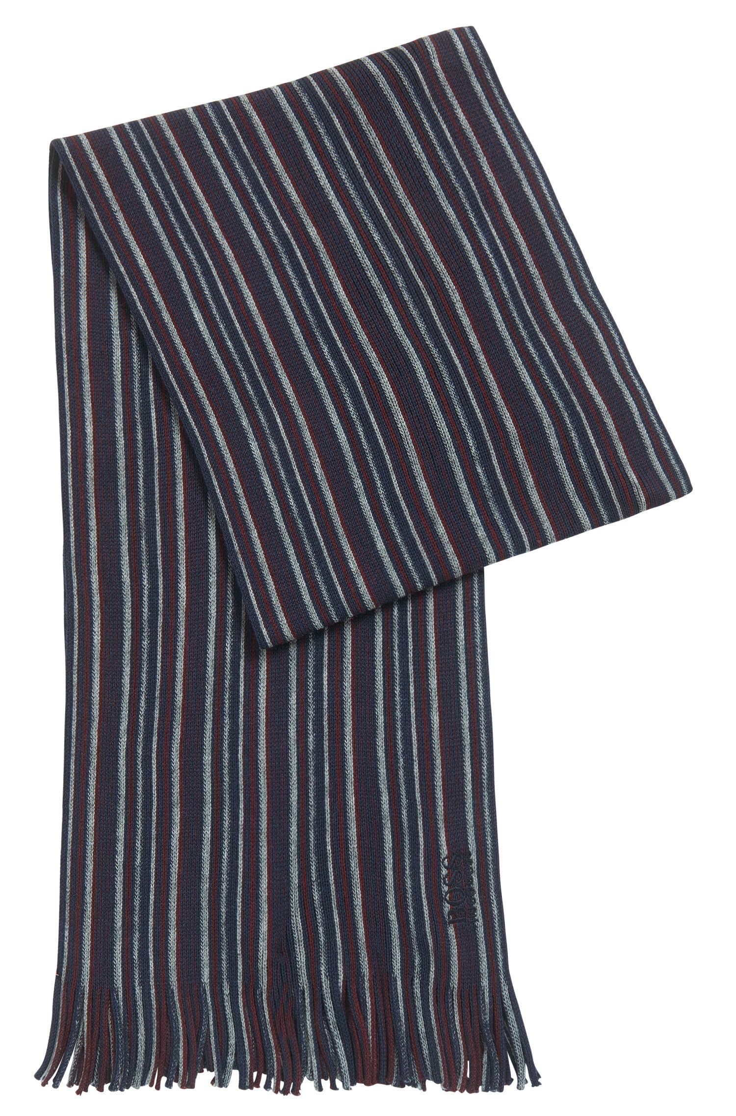 Striped Virgin Wool Scarf | C-Fandano, Red