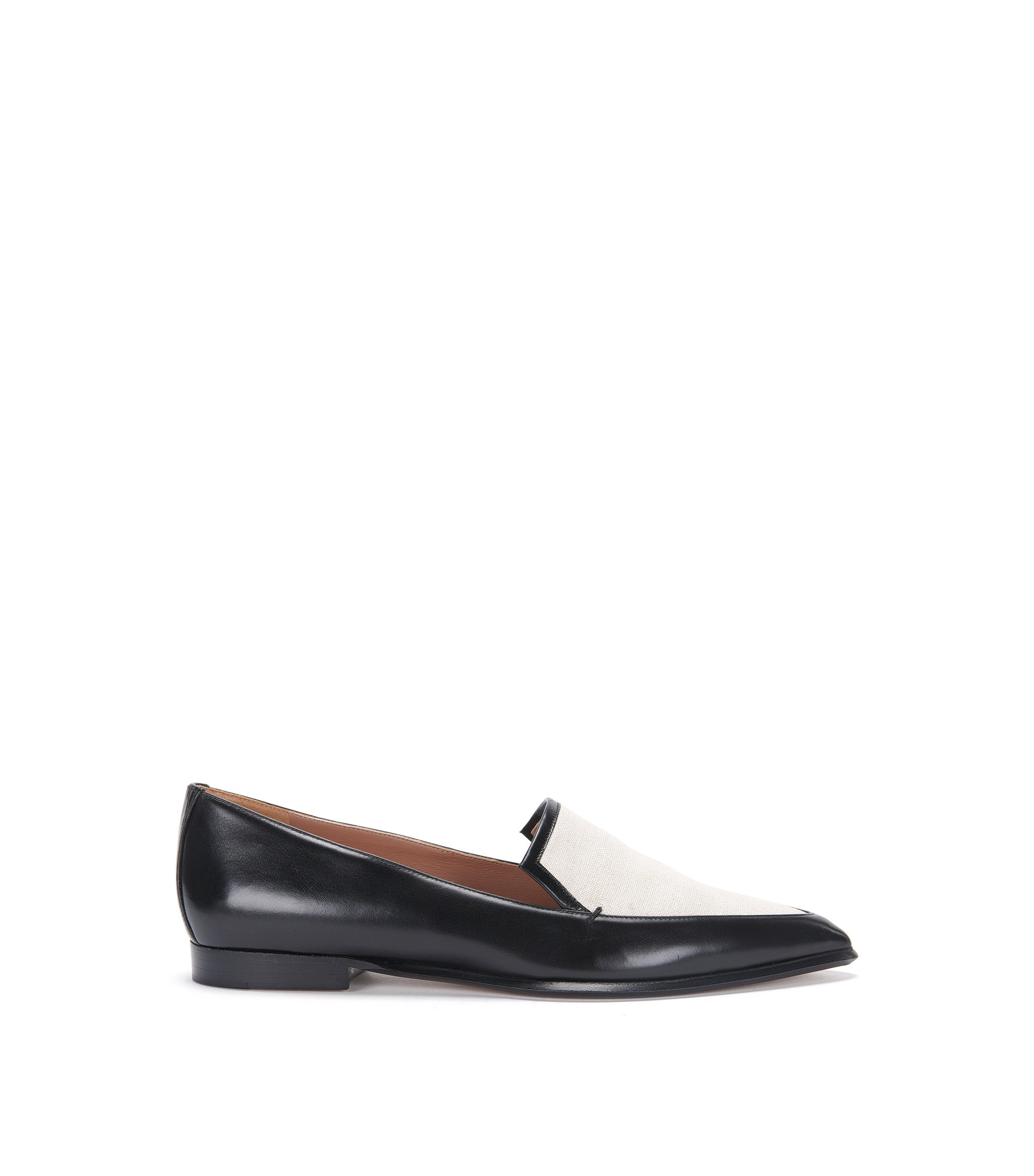 'Canvas Loafer' | Italian Calfskin Canvas Loafers, Natural