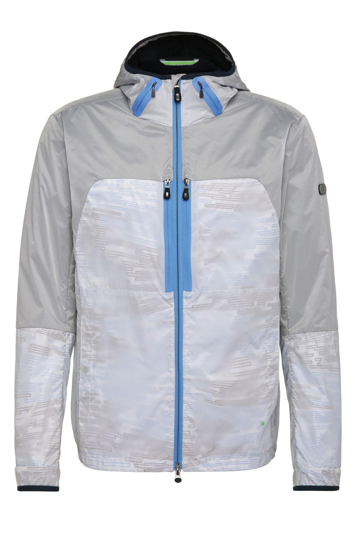 Nylon Blend Hooded Jacket | Jaxim, Blue