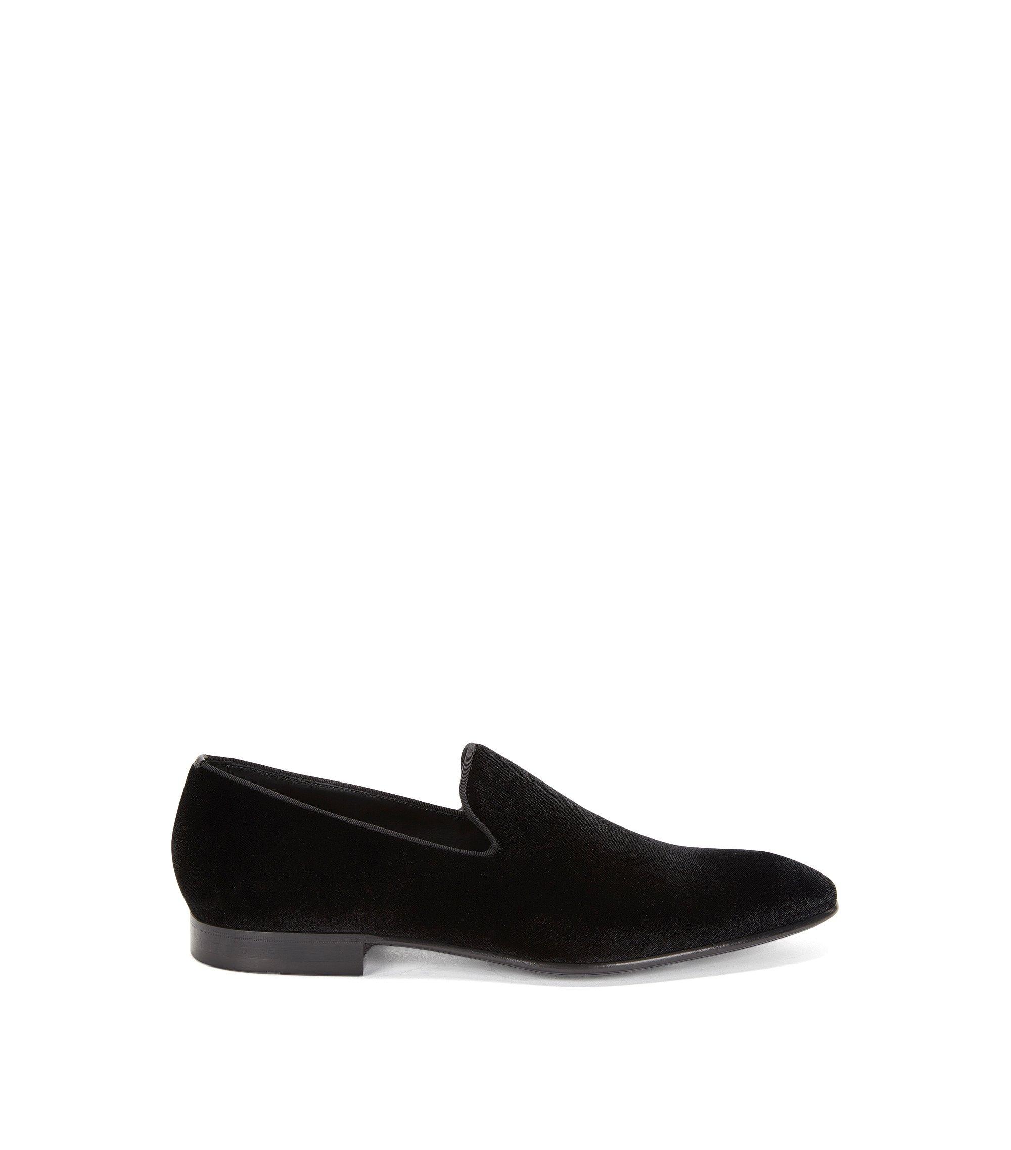 Cotton Blend Velvet Dress Loafer   Evening Loaf Vlt, Black