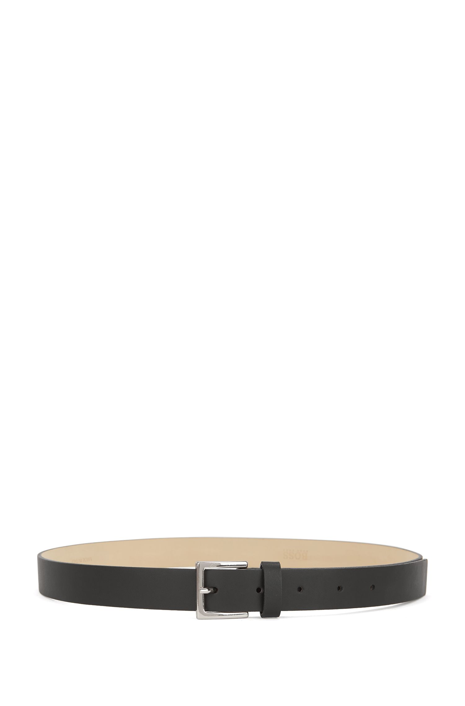 Leather Skinny Belt | Brede, Black