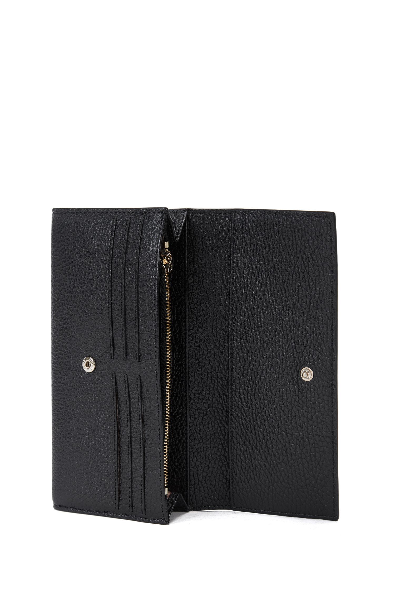 Leather Zip Wallet | Staple Continental A, Black