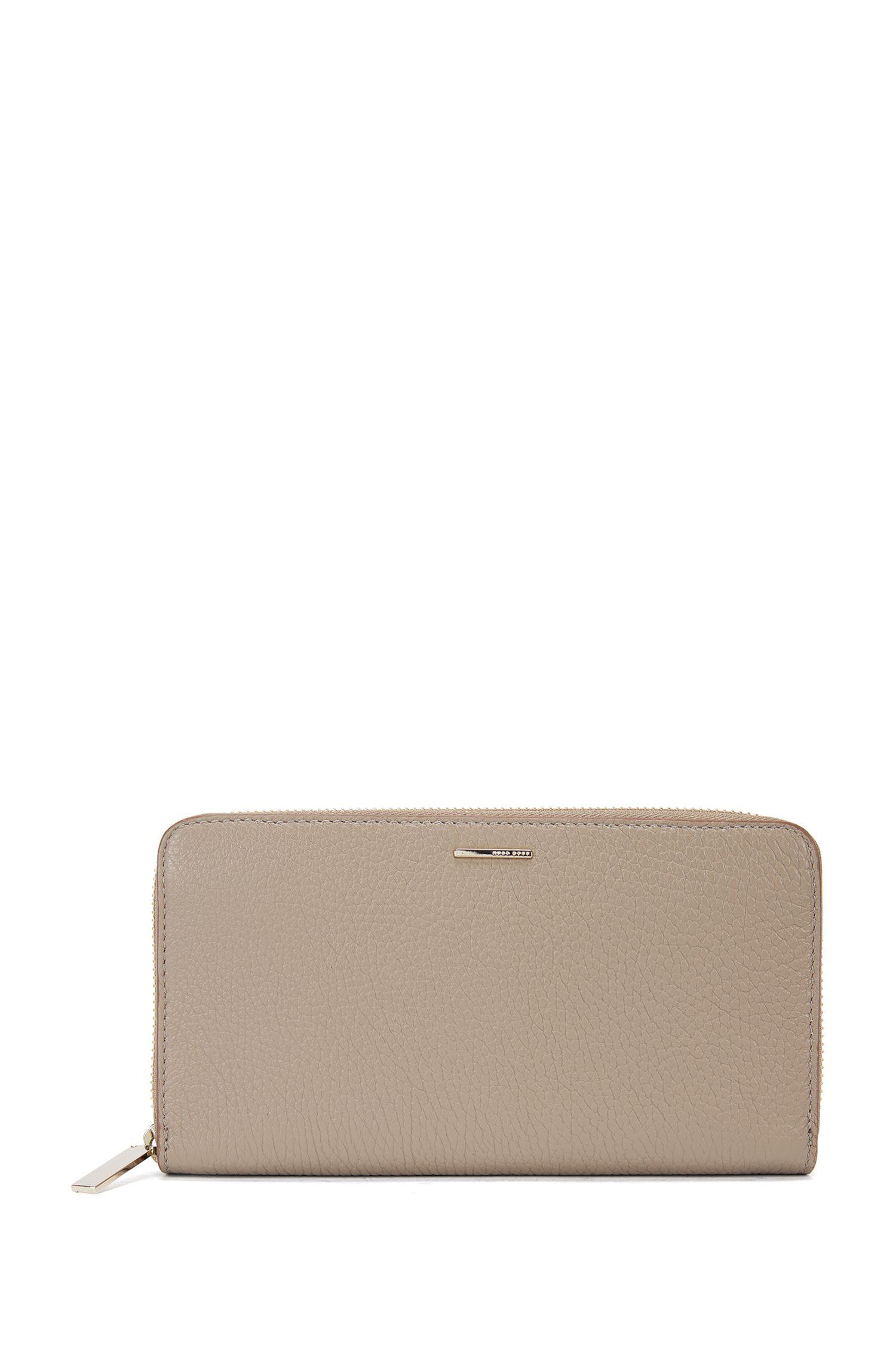 'Staple Ziparound A' | Leather Embossed Zip Wallet