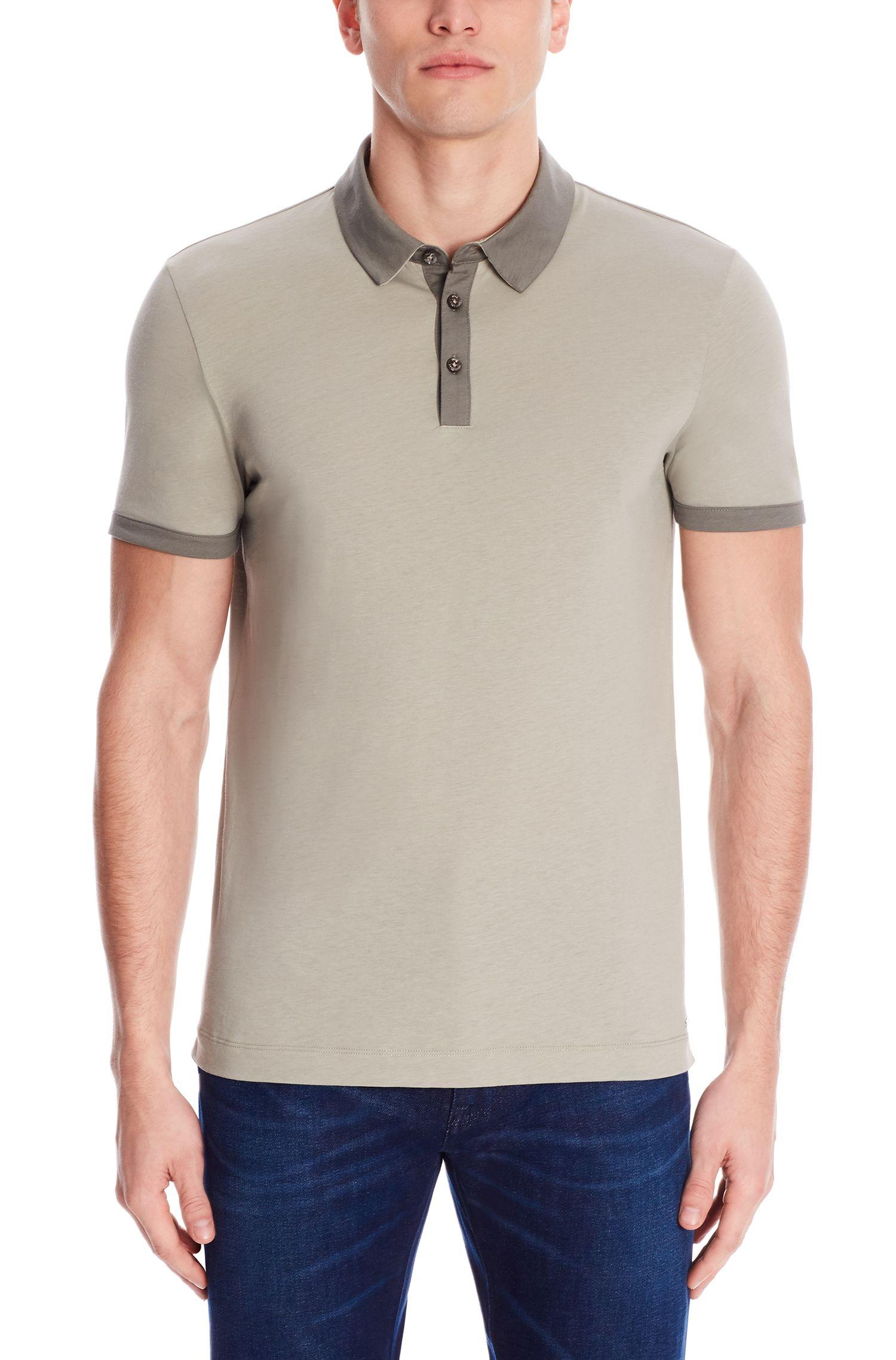 Cotton Jersey Polo Shirt, Slim FIt | Platt