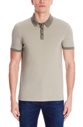 Cotton Jersey Polo Shirt, Slim FIt | Platt, Green
