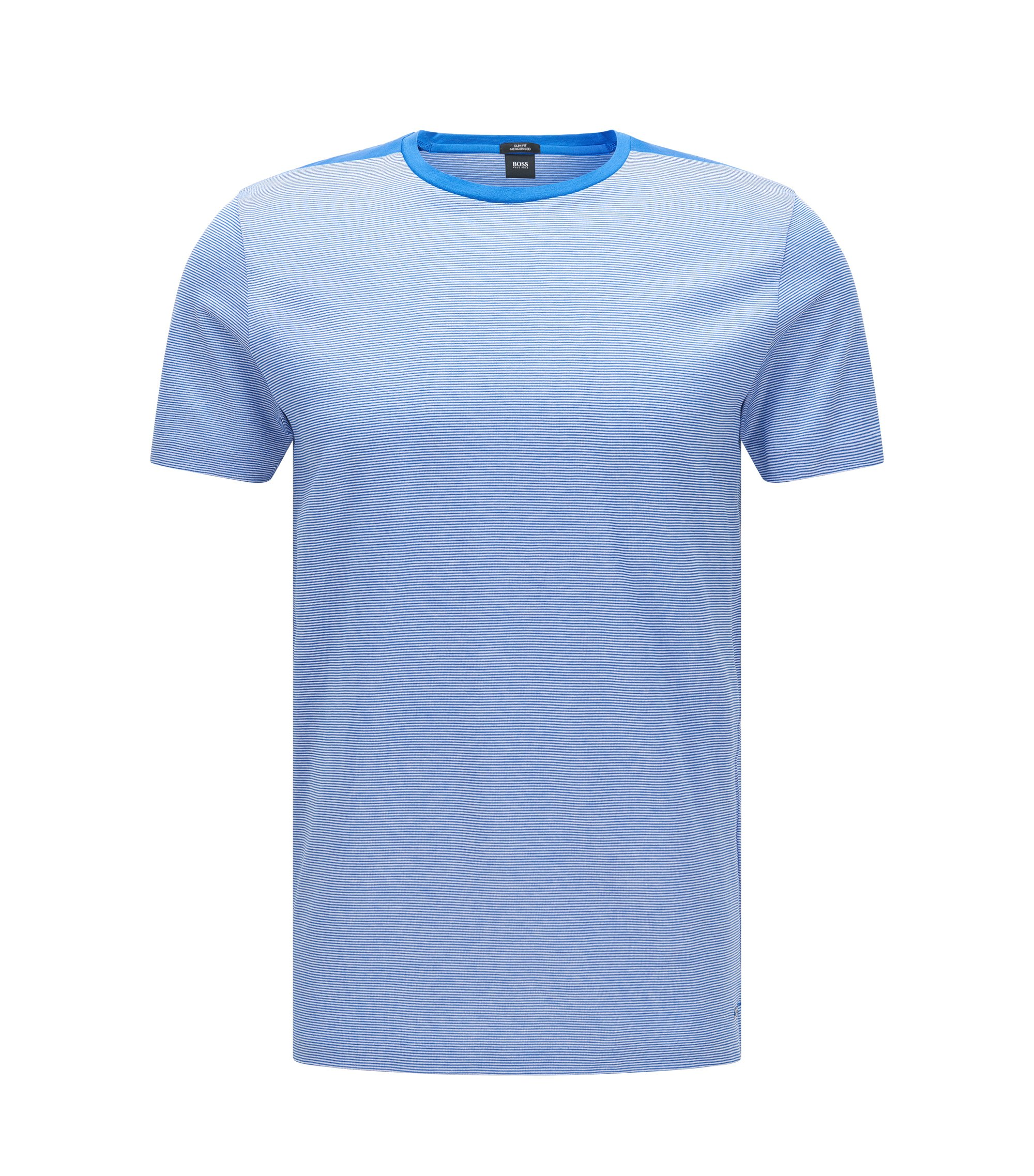Mercerized Cotton T-Shirt | Tessler, Blue
