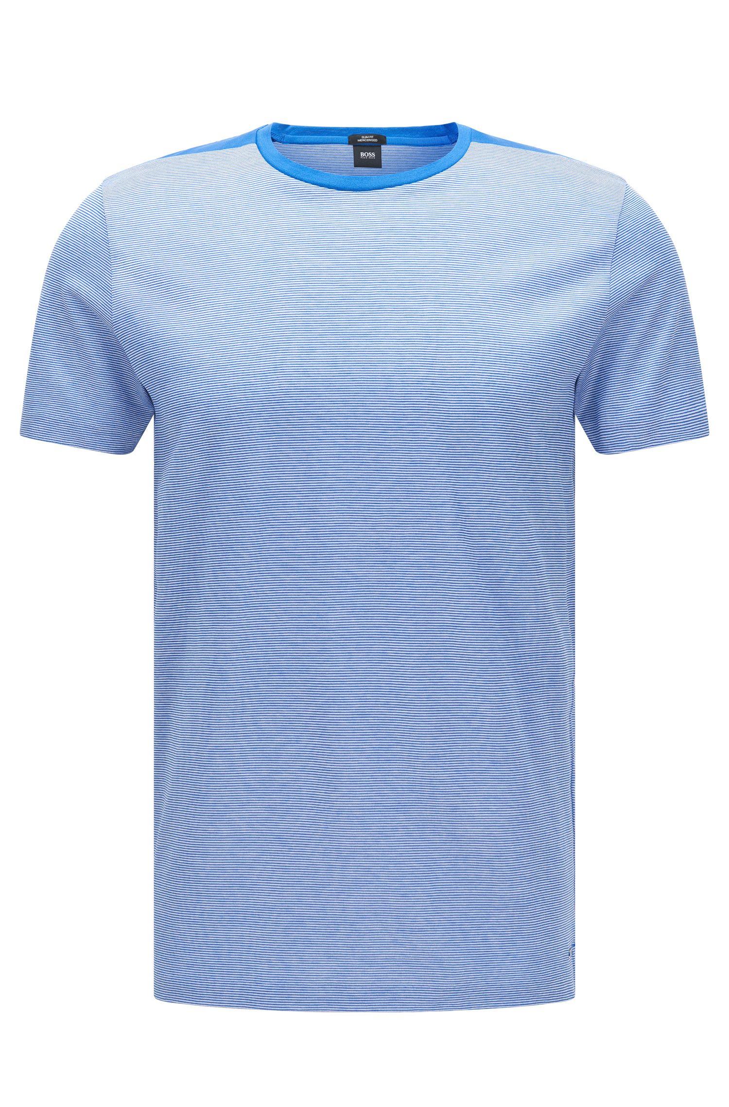 Mercerized Cotton T-Shirt | Tessler, Blue
