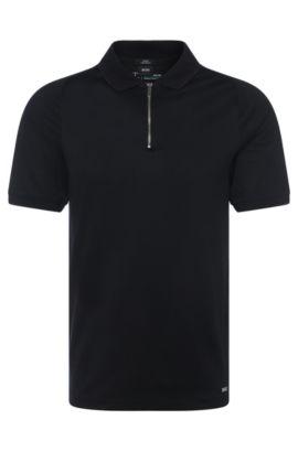 'Polston' | Slim Fit, Mercedes-Benz Mercerized Cotton Polo Shirt, Black