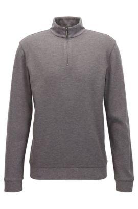 'Sidney' | Cotton Birdseye Troyer Sweatshirt, Grey
