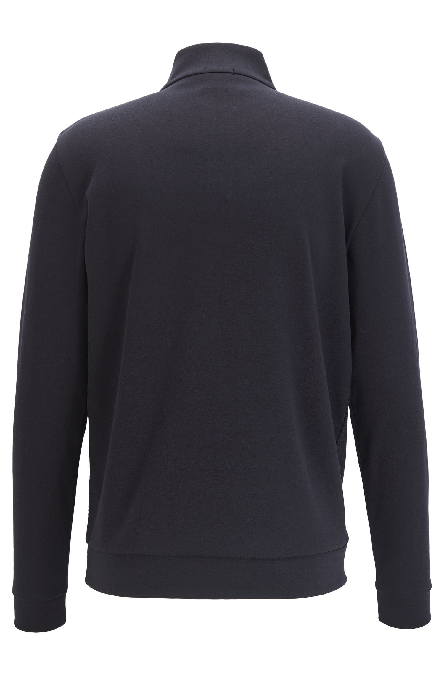 Cotton Birdseye Half-Zip Sweatshirt | Sidney, Dark Blue