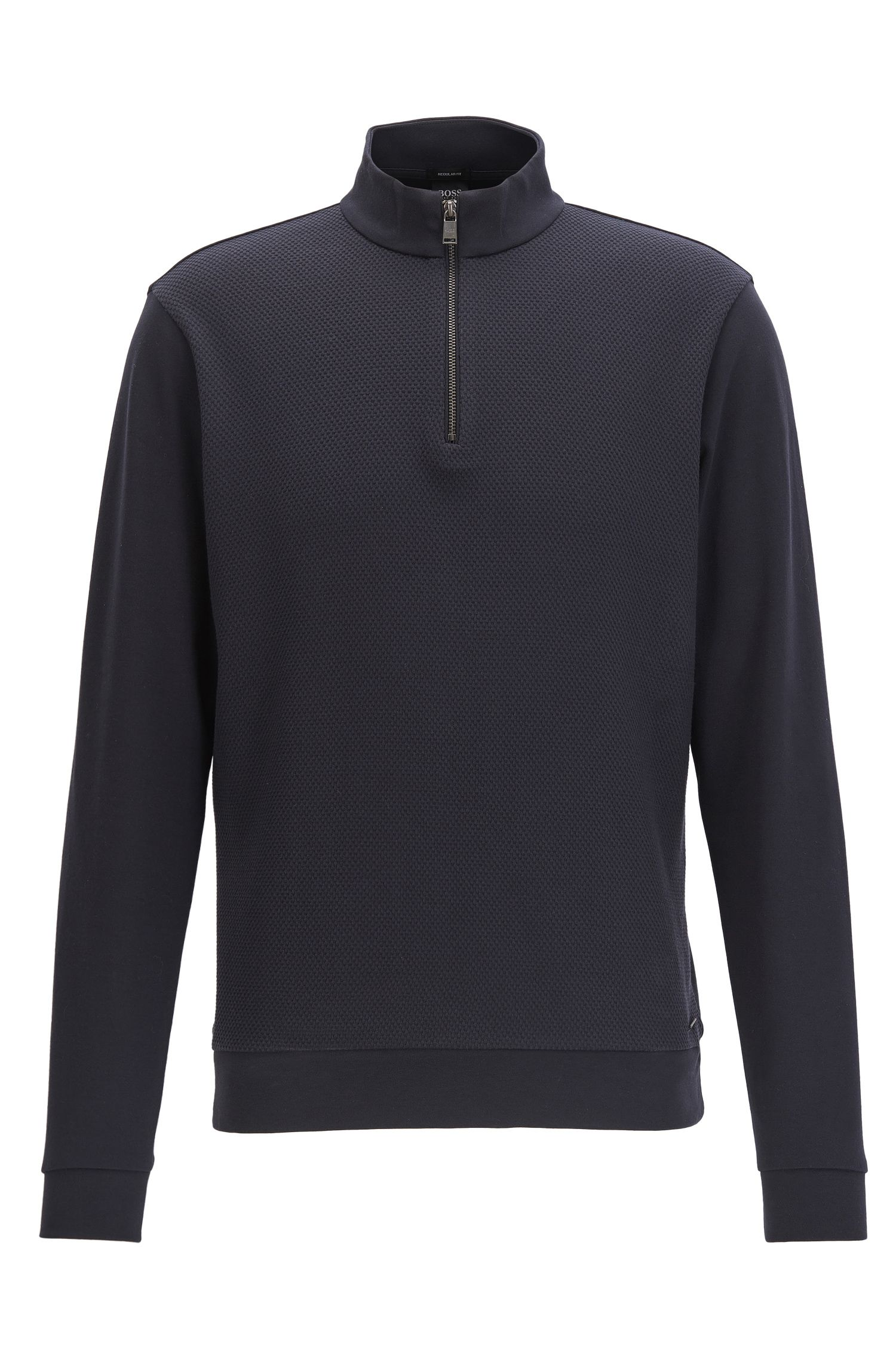 Cotton Birdseye Half-Zip Sweatshirt | Sidney