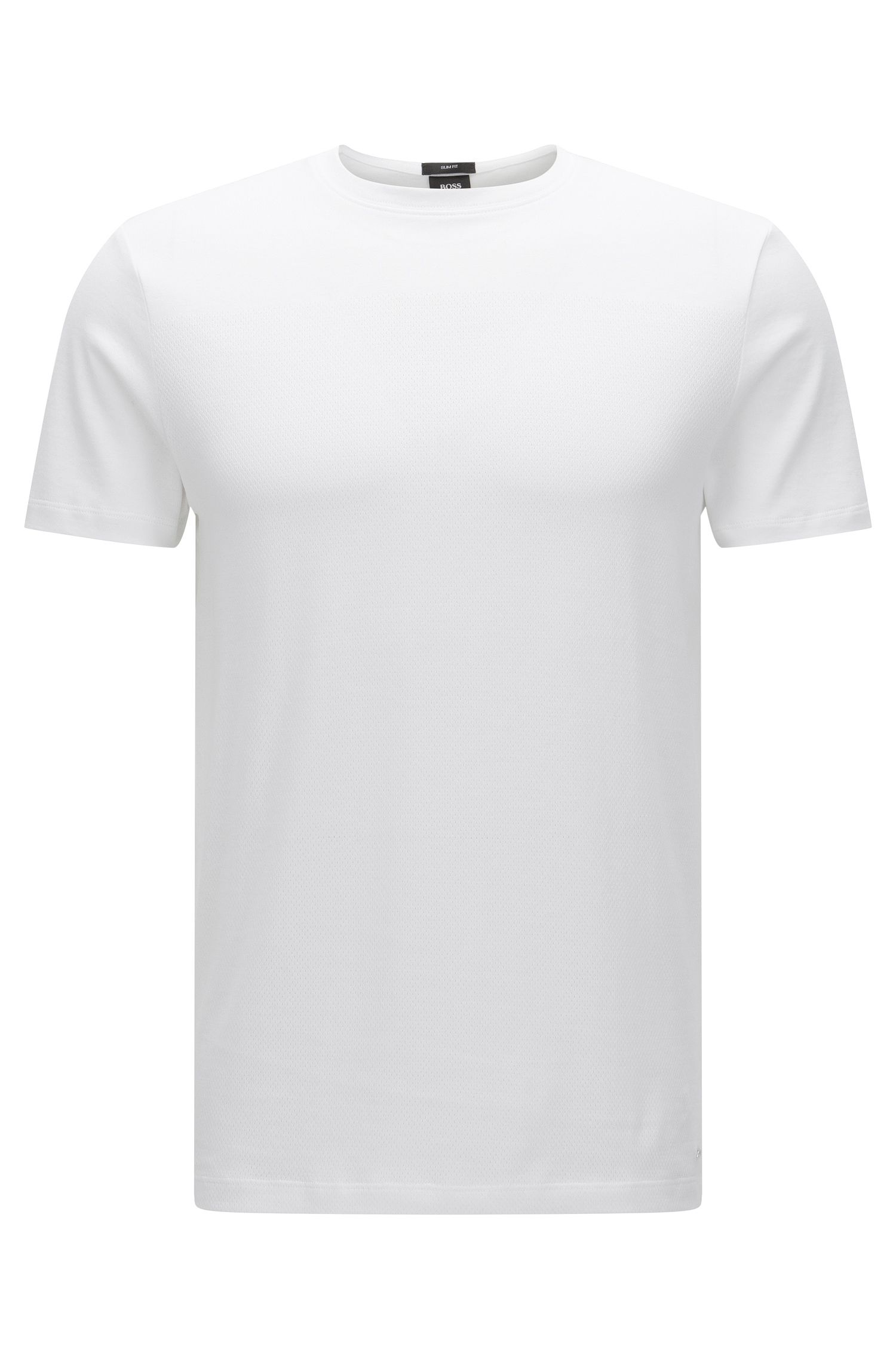 Cotton Mesh Texture T-Shirt | Tessler