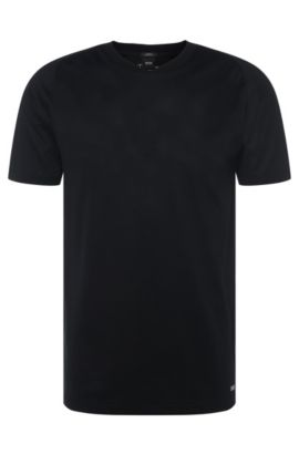 'Tessler' | Mercerized Cotton T-Shirt, Black