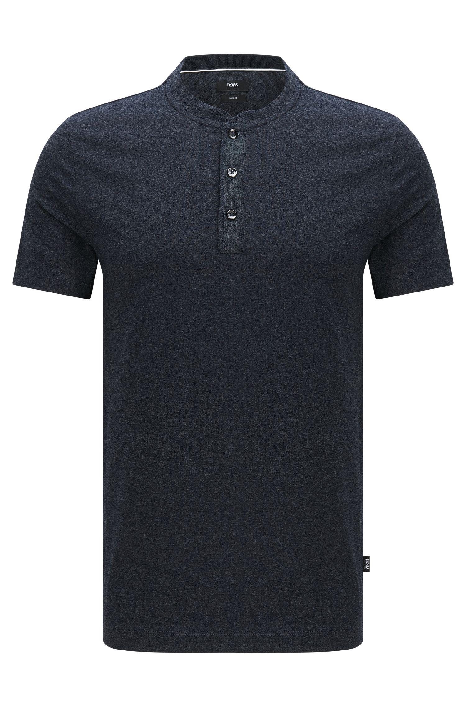 'Tiller' | Slim Fit, Cotton Blend Henley T-Shirt