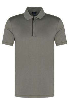 Cotton Polo Shirt, Slim Fit | Plater, Dark Green