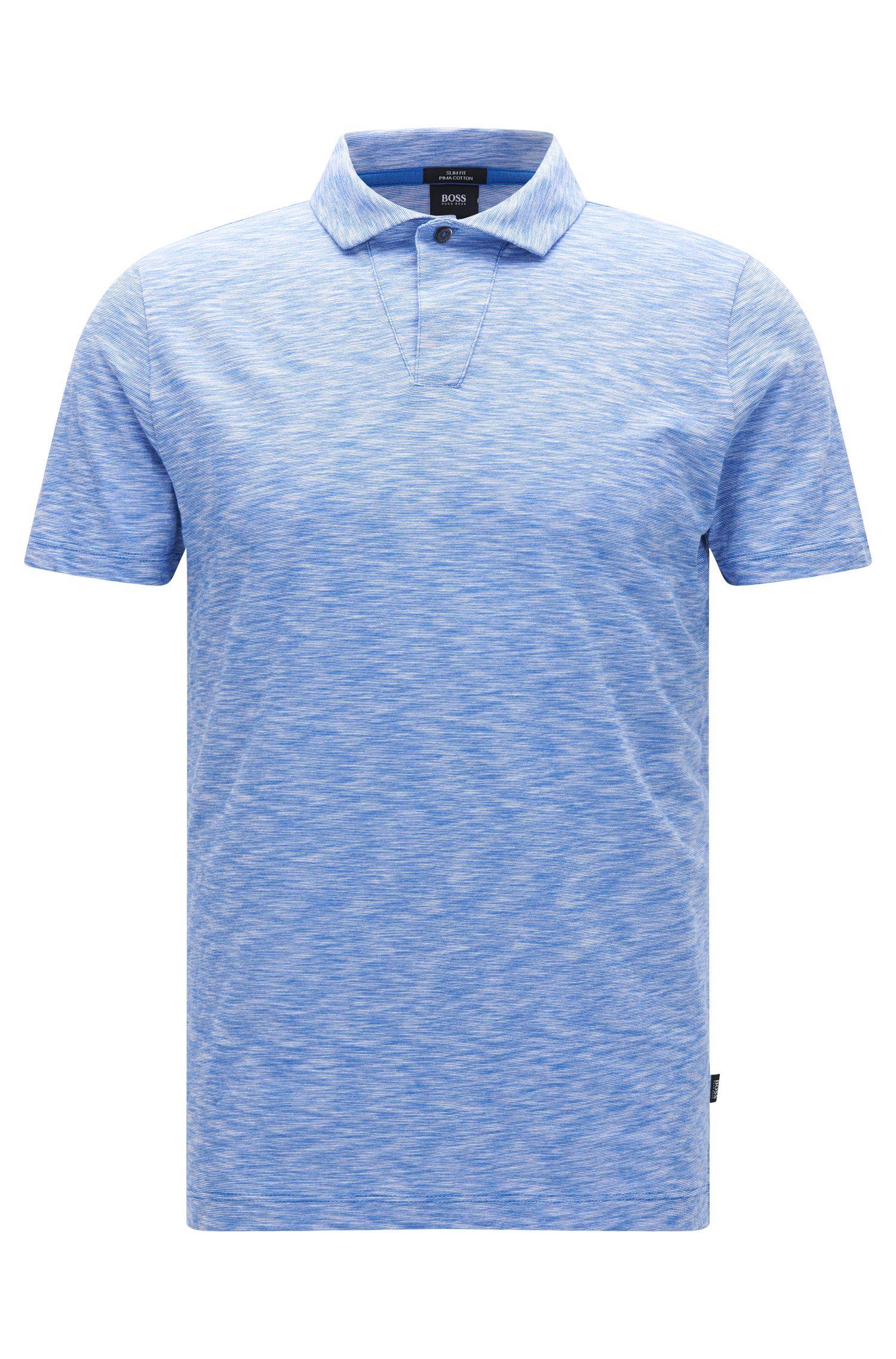 Pima Cotton Jersey Polo Shirt, Slim Fit   Plato