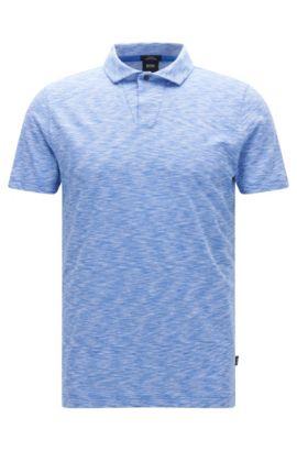 Pima Cotton Jersey Polo Shirt, Slim Fit | Plato, Blue