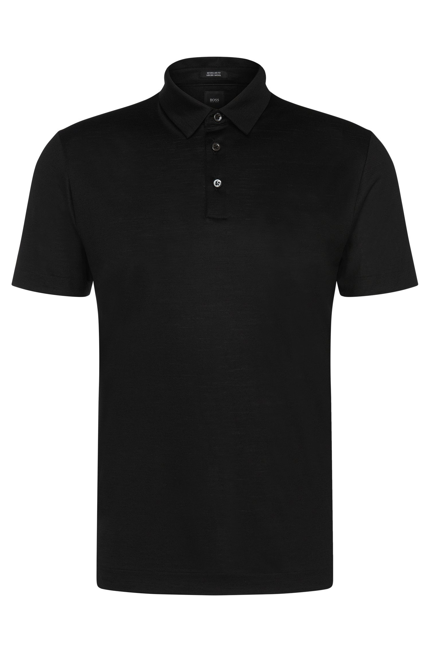 Italian Virgin Wool Polo, Regular Fit | T-Perkins