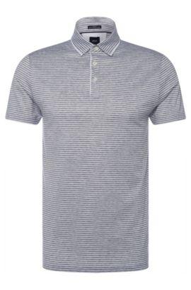 Italian Cotton Polo Shirt, Slim Fit | T-Pryde, Open Grey