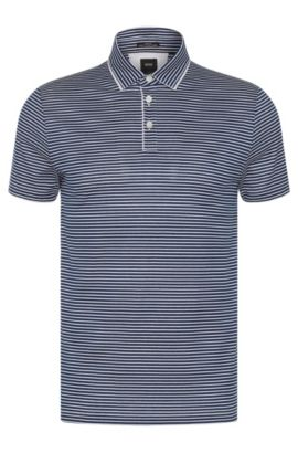 'T-Pryde' | Slim Fit, Italian Cotton Polo Shirt, Dark Blue