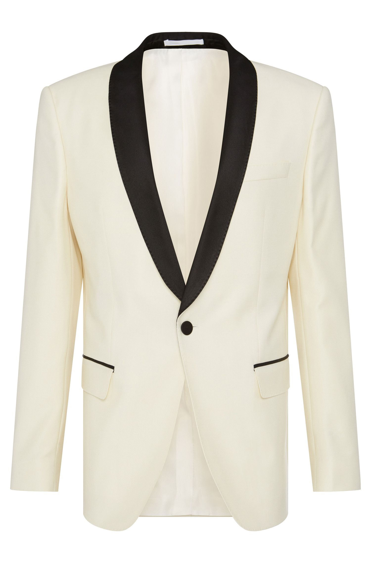 Italian Virgin Wool Textured Dinner Jacket, Slim Fit | Hockley