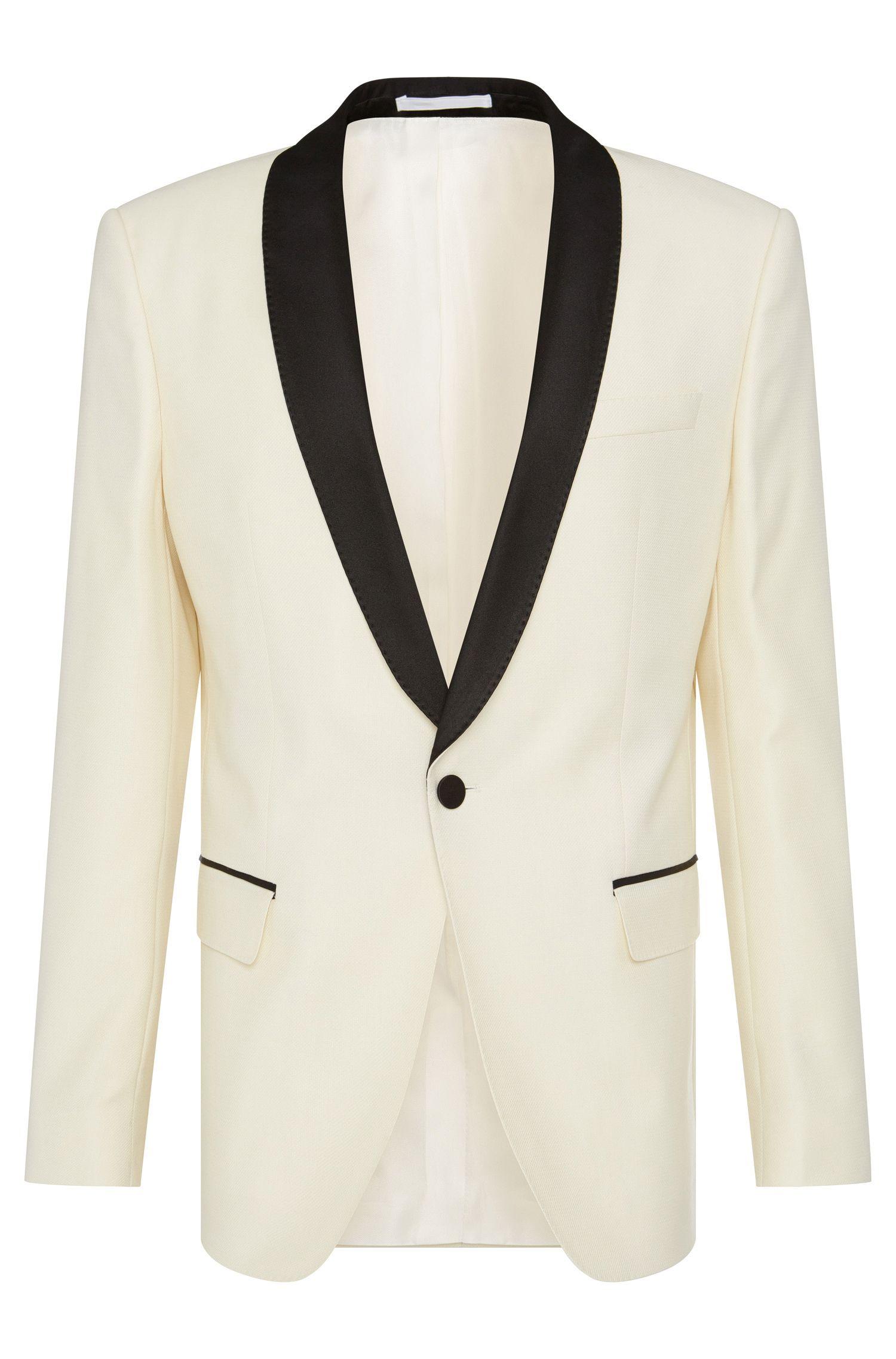 'Hockley' | Slim Fit, Italian Virgin Wool Textured Dinner Jacket