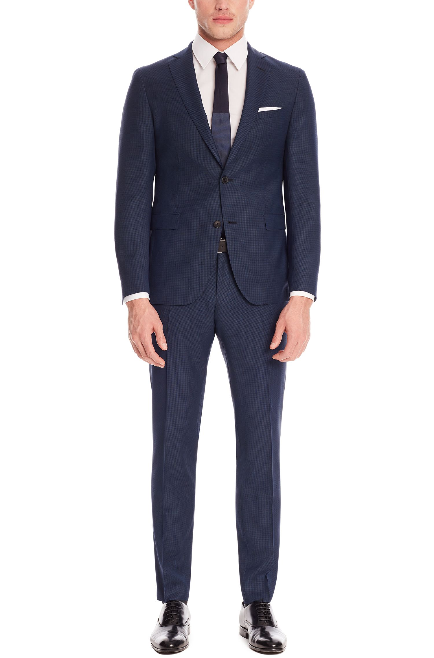 Italian Super 100 Wool Suit, Extra Slim Fit | Reyno/Wave