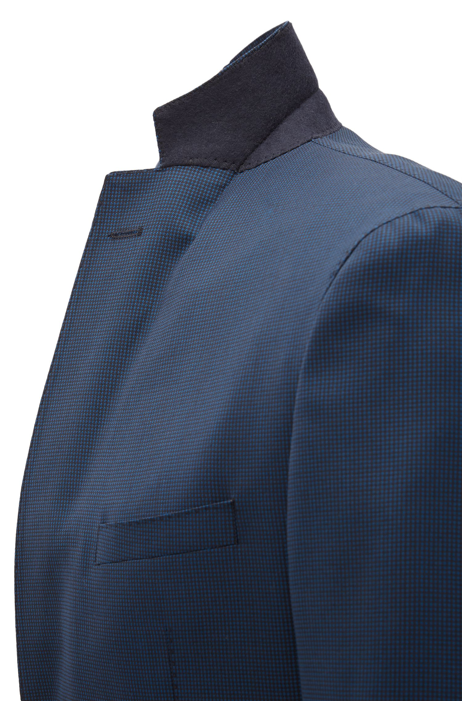 Italian Super 100 Wool Suit, Extra Slim Fit | Reyno/Wave, Blue
