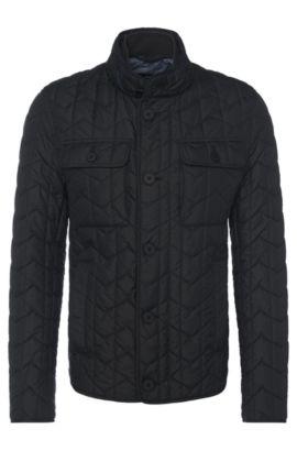 'Camano' | Quilted Wind Resistant Jacket, Black