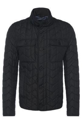 'Camano' | Quilted Wind Resistant Jacket, Black
