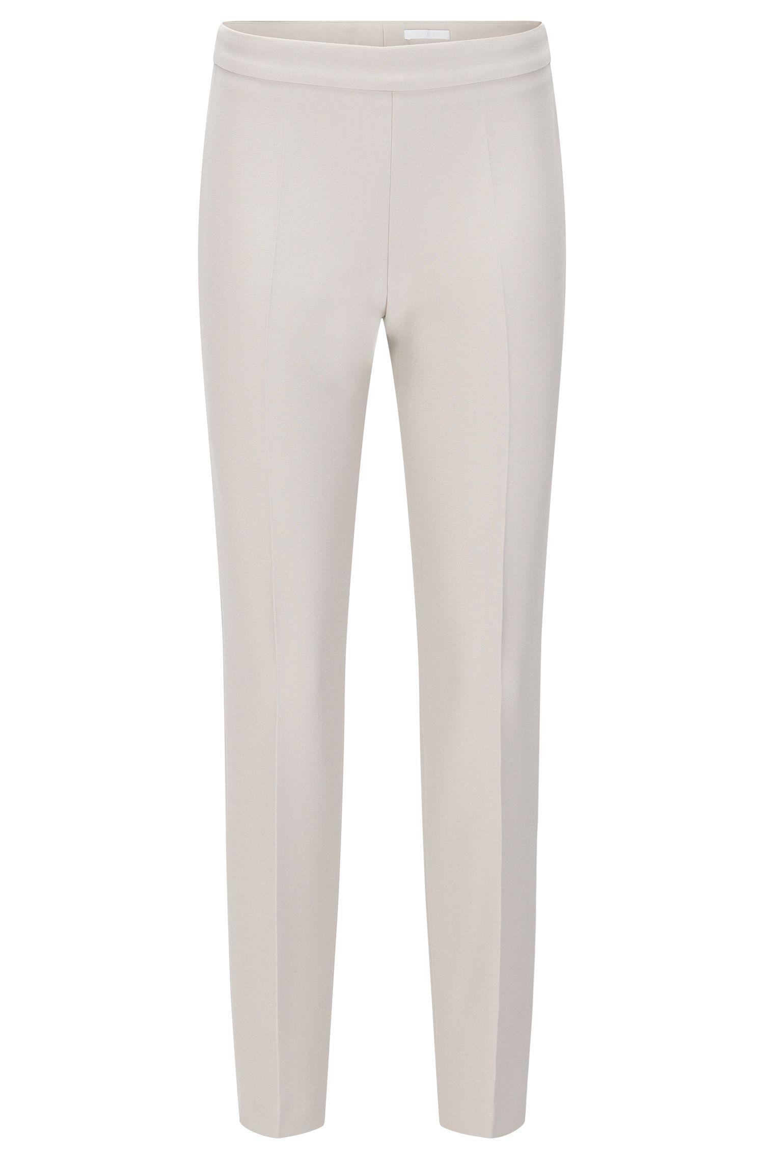 'Tiluna Side Zip' | Stretch Cotton Blend Dress Pants