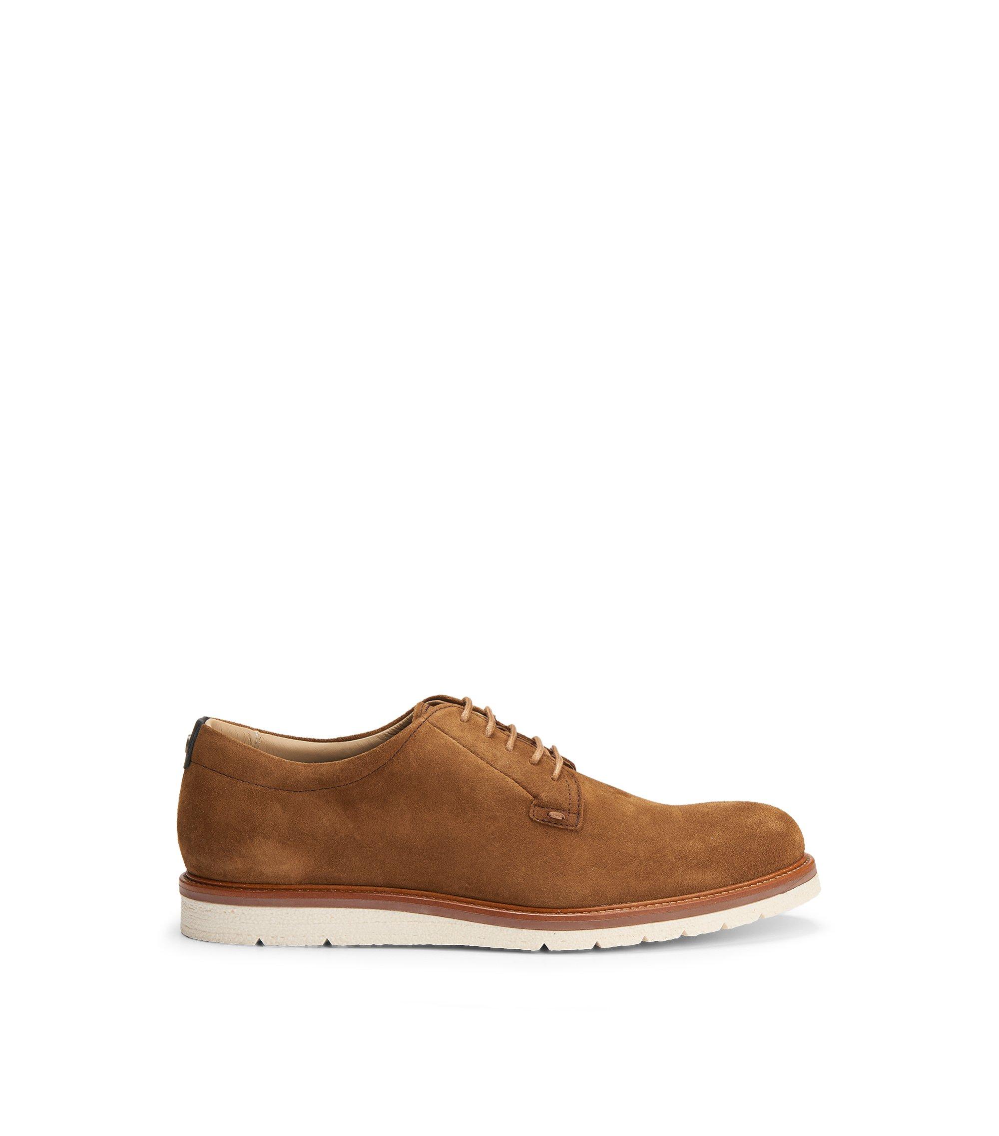 Suede Derby Shoe   Tuned Derb Sd1, Brown