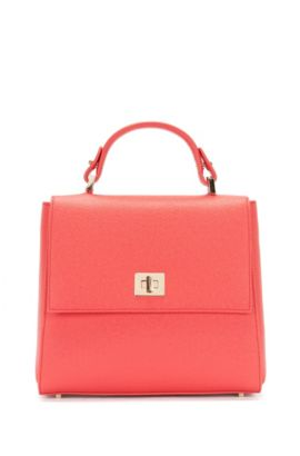 'Bespoke' | Calfskin Bag, Detachable Strap, Pink