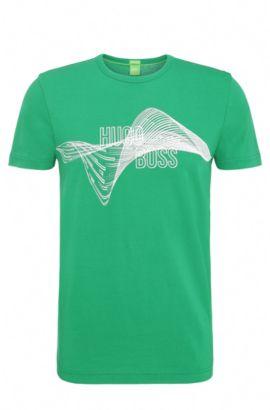 'Tee' | Cotton Logo T-Shirt, Open Green