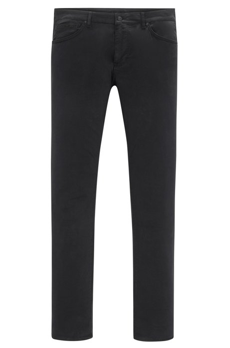 Regular-fit trousers in washed stretch cotton HUGO BOSS s7WFCxepM
