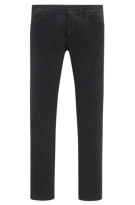 'Maine' | Regular Fit, 12 oz Stretch Cotton Pants, Black