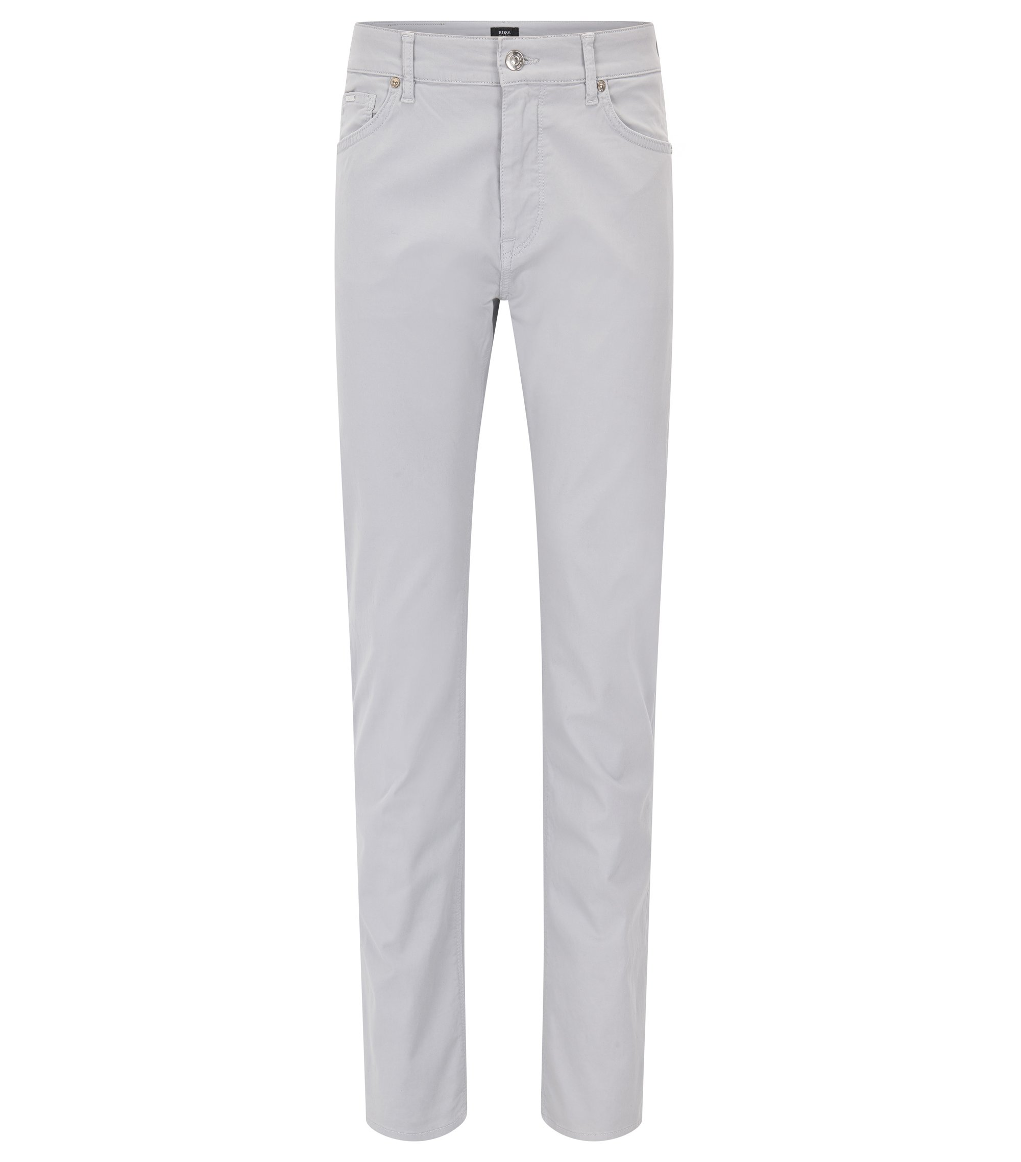 Stretch Cotton Pant, Regular Fit | Maine, Light Grey