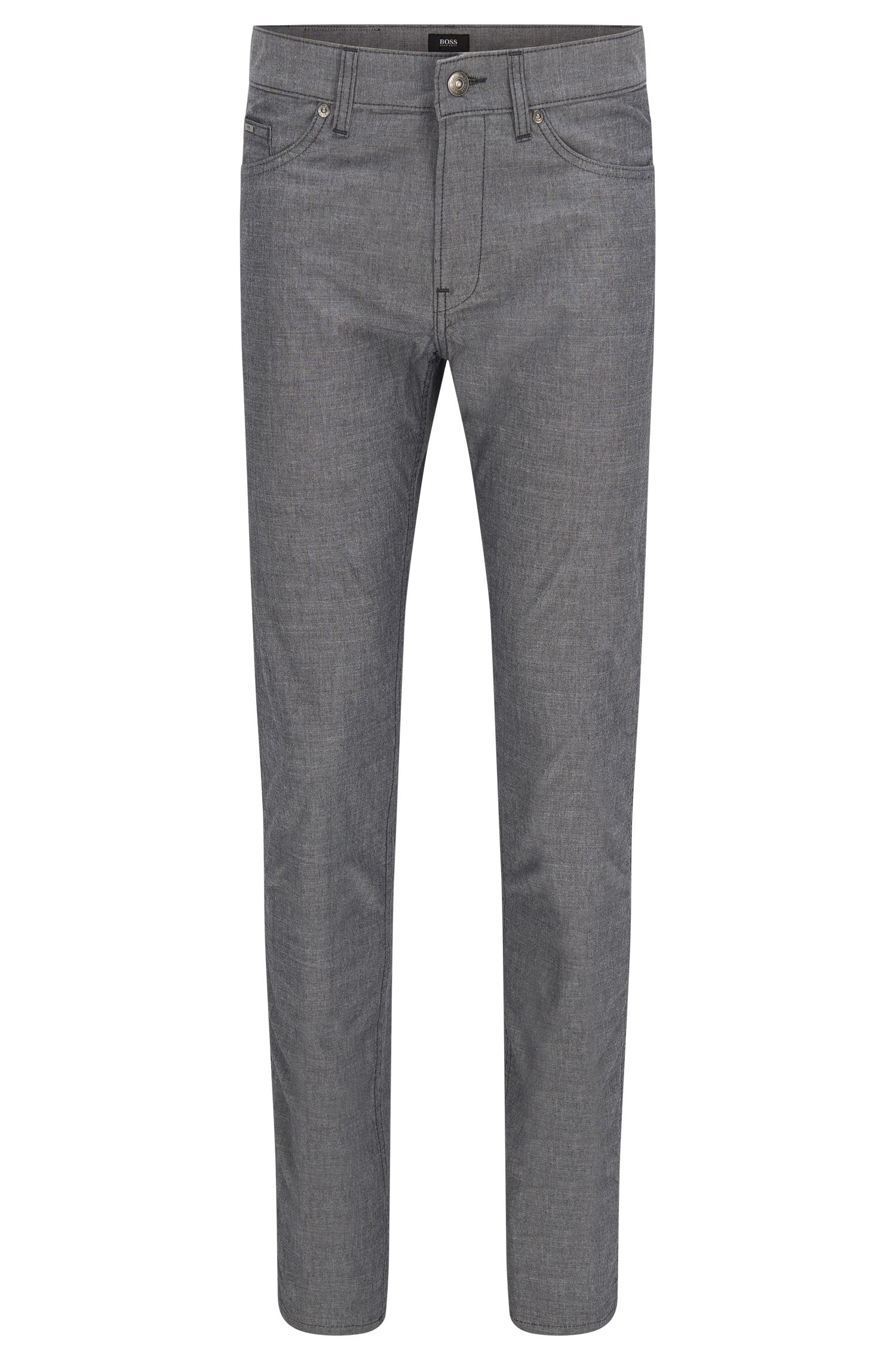 'Delaware'   Slim Fit, Chambray Stretch Cotton Jeans